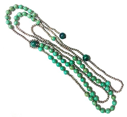 Bijoux De Ja Simulated Green-Turquoise Howlite Beads Y-Necklace 34 Inches by Bijoux De Ja (Image #2)