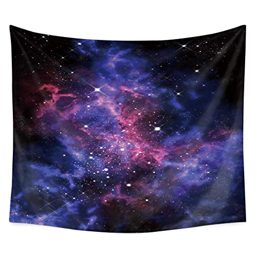 Star Cluster/Space Decor Tapestry, Outer Space Tapestry Decorations Galaxy Stars Universe Milky Way, Bedroom Living Room Dorm Wall Hanging Tapestry-Navy Purple/Berry Turquoise Red -