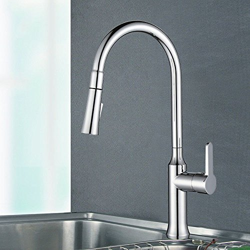 Gyps Faucet Basin Mixer Tap The sink faucet kitchen pull-down kitchen faucet chrome single hole cold-hot water tap double-tap mixer,Modern Bath Mixer Tap Bathroom Tub Lever Faucet