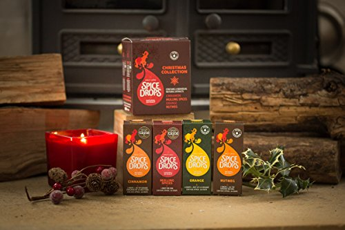 Holy Lama Christmas Collection with Cinnamon, Orange, Mulling Spices, and Nutmeg Spice Drops (4 bottles of 5 ml each) -