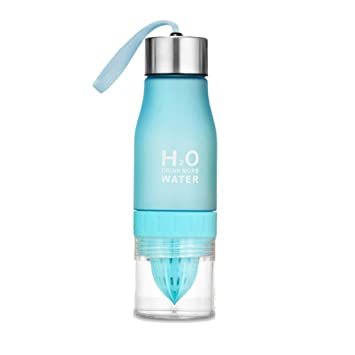 650 ml H2O - Botella de agua portátil exprimidor jugo Limón Fruta Infusor Taza de salud - Crear ...