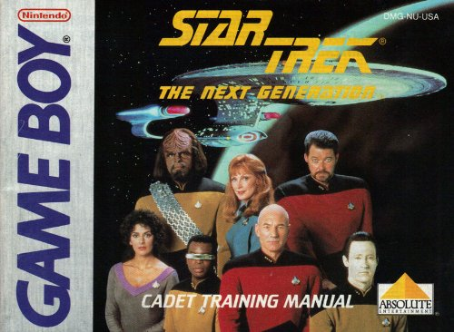 Star Trek The Next Generationt GB Instruction Booklet - Game Boy Star Trek