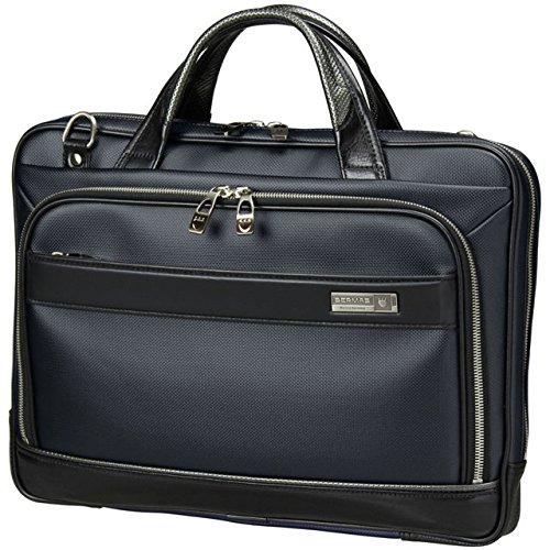 BERMAS バーマス M.I.J MADE IN JAPAN ビジネス 2way ビジネス ブリーフケース ショルダーバッグ A4 38cm 薄マチ 日本製 豊岡鞄 ネイビー 60035-NV B0799DDVMF