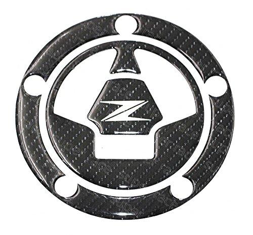 Decal Story 3D Real Carbon Fiber Emblem Gas Cap Cover Sticker Decal Raise Up Polish Gloss For KAWASAKI Ninja ZX-6R / ZX636 2006-2016 ZX-14 2006-2011 ZX-10R 2006-2015 (Zx6r Carbon)
