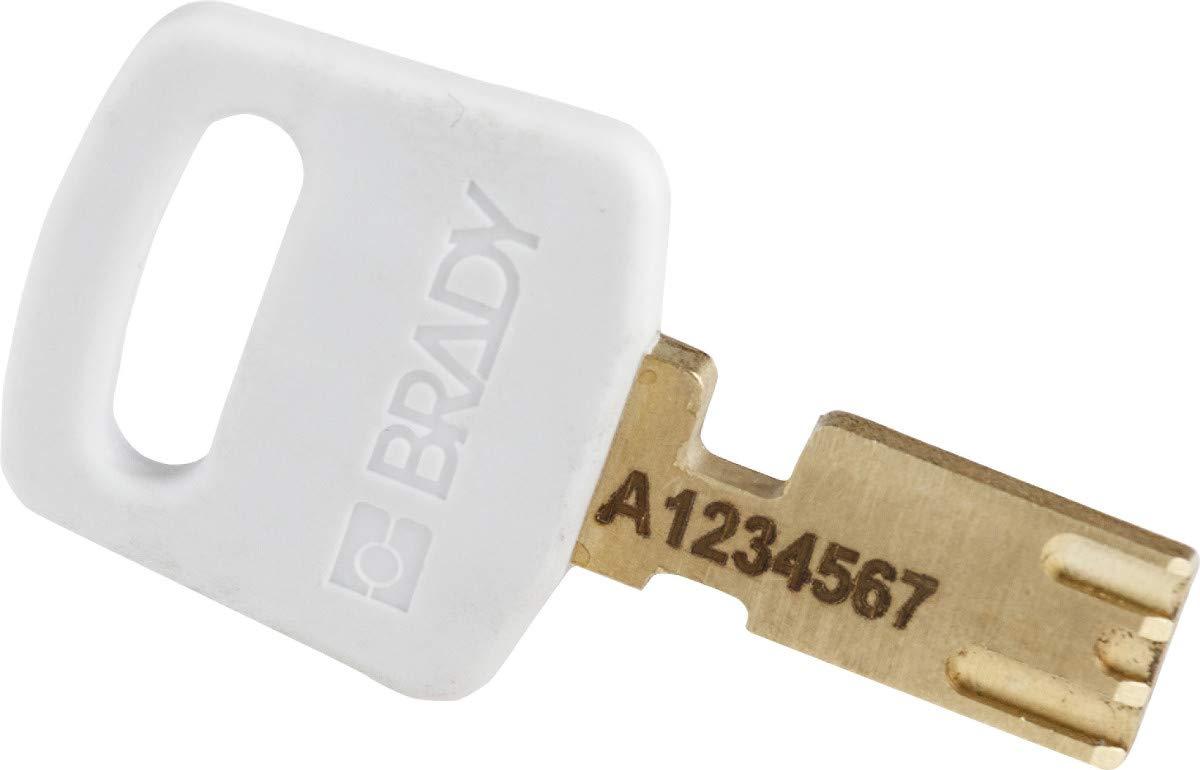 Nylon Keyed Different 1.0 Plastic Shackle Vertical Clearance White Brady SafeKey Lockout Padlock