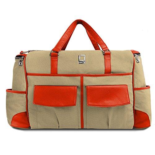 lencca-tan-and-orange-alpaque-duffel-water-resistant-luggage-laptop-bag-for-toshiba-satellite-tecra-