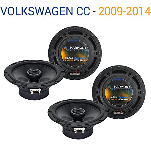 Compatible with Volkswagen CC 2009-2014 Factory Speaker Replacement Harmony (2) R65 Package New