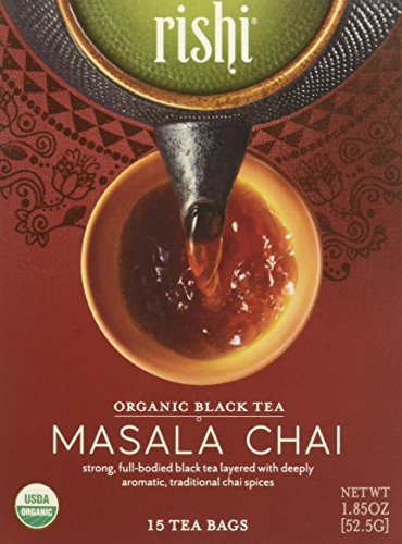 Rishi Tea Masala Chai Tea - Organic Black Tea Blend Sachet Tea Bags - 15 Count from Rishi Tea