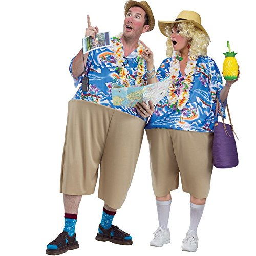 Fun World Tacky Tourist, Multi, Unisex-Men up to 6/200 lbs… Womne Size 4-14