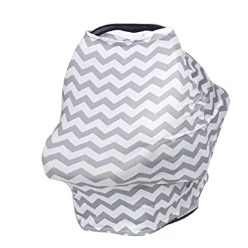 TUOKING Multi Colorful Patterned Nursing Cover Multi-Use Baby Car Seat Cover Houndstooth