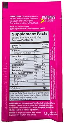 KETO//OS MAX Raspberry Lemonade CHARGED N8tive Series, BHB Beta Hydroxybutyrates Exogenous Ketones Supplements for Fat Loss, Workout Energy Boost and Weight Management through Fast Ketosis, 20 Sachets 9