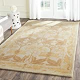 Cheap Safavieh Antiquities Collection AT841B Handmade Traditional Oriental Beige and Gold Wool Area Rug (3′ x 5′)