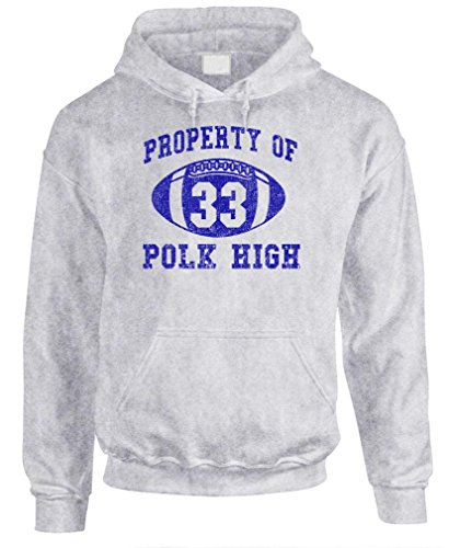 POLK HIGH - Funny BUNDY Football Champ 33 - Mens Pullover Hoodie, 2XL, - Al Christmas Bundy
