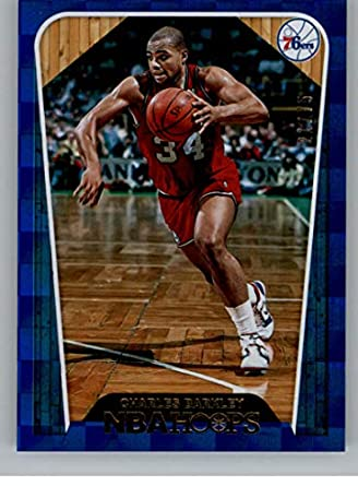2018-19 NBA Hoops Blue Checkerboard  286 Charles Barkley SER75 Philadelphia  76ers Tribute Official 838dbff1e