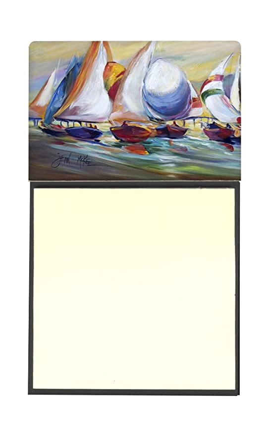 Carolines Treasures Sailboat Race in Dauphin Island Sticky Note Holder Multicolor 3.25 by 5.5