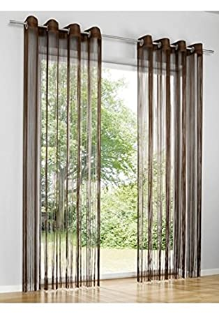 Amazon De Heine Home Fadenstore Gardine Vorhang Raumteiler