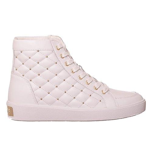 Guess Mujer Zapatillas Altas Blanco Size: 41 EU: Amazon.es: Zapatos y complementos