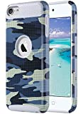 Image of ULAK iPod Touch Case, iPod Touch Case 6th Generation, Dual Layer Slim Protective Hybrid iPod Touch Case Hard PC Cover for Apple iPod Touch 5 6th Generation, DotCamo