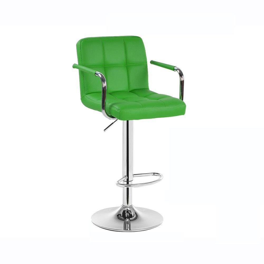 DALL カウンターチェア FL-11シンプルでモダンな バースツール 朝食バー スツール 高い足 スツール 組み立てることができます 回転可能な L ドロップ 97117cm高い (色 : 緑) B07DJ13TJ5 緑 緑