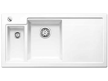 Blanco Axon II 6 S KristallweißEinbau Keramikspüle Küchen-Spüle ... | {Spülbecken küche weiß 85}
