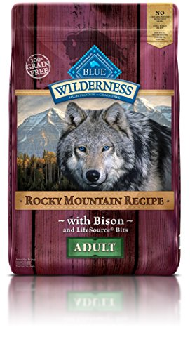 BLUE Wilderness Rocky Mountain Recipe Adult Grain Free Bison Dry Dog Food 22-lb