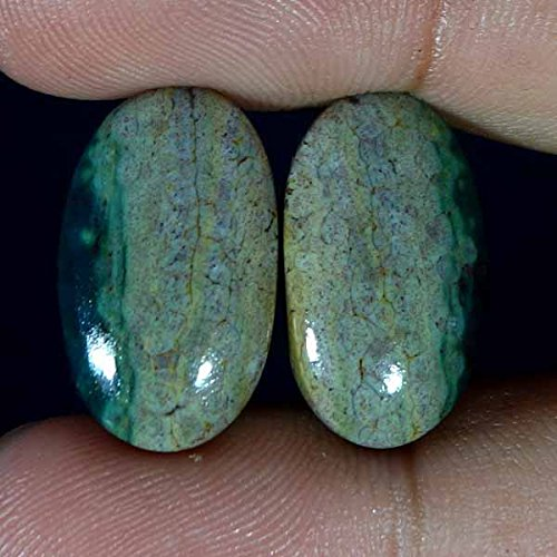 Jasper Cabochons Matched - GovindStore 21.00Cts Natural Wonderful Matched Designer Ocean Jasper Pair Oval CAB Gemstone