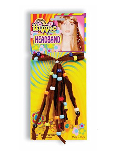 Children's Wonder Woman Costume Uk (Brown Beaded Hippie Headband)