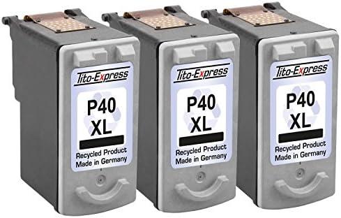 3 cartuchos de tinta para Canon PG-40 X L Black PIXMA MP450 MP150 ...