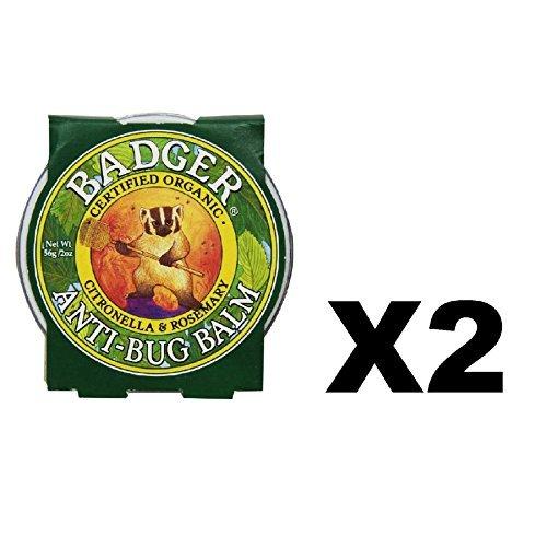 Badger Company, Anti-Bug Balm, Citronella & Rosemary, .75 oz (21 g) - 2pc