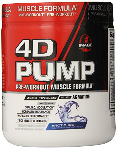 Image Sports 4D Pump Complete Pre-Workout Muscle Formula, Arctic Ice, 10.58-Ounce