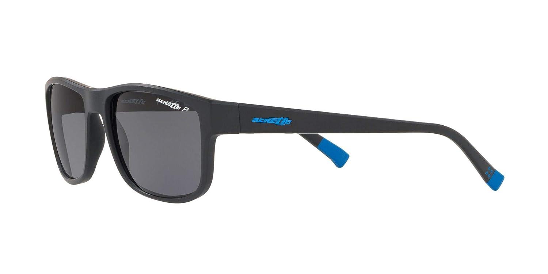 Arnette Mens Lastarria Polarized Rectangular Sunglasses Matte Black 58 mm