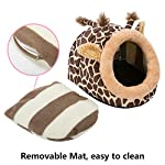 Hollypet Warm Small Pet Animals Bed Dutch Pig Hamster Cotton Nest Hedgehog Rat Chinchilla Guinea Habitat Mini House 11