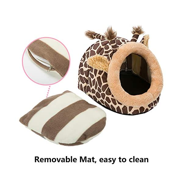 Hollypet Warm Small Pet Animals Bed Dutch Pig Hamster Cotton Nest Hedgehog Rat Chinchilla Guinea Habitat Mini House 4