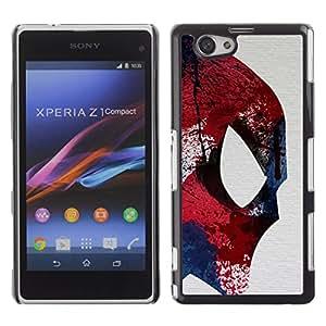 For Sony Xperia Z1 Compact / Z1 Mini / D5503 Case , Fighter Ufo Superhero Colorful - Diseño Patrón Teléfono Caso Cubierta Case Bumper Duro Protección Case Cover Funda