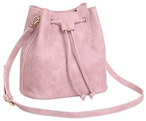 Aitbags Drawstring Bucket Bag Retro Handbag Tote Bag for Women With Shoulder Strap (Bucket Tote Handbag)