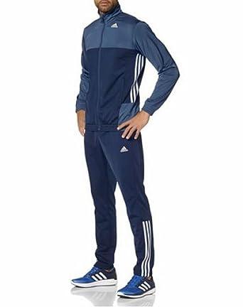 Adidas aktueller Herren Trainingsanzug blau blau grau Größe