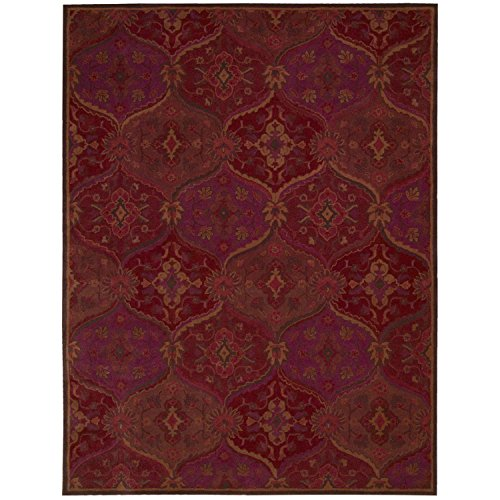 Nourison India House (IH88) Red Rectangle Area Rug, 8-Feet by 10-Feet 6-Inches (8' x 10'6