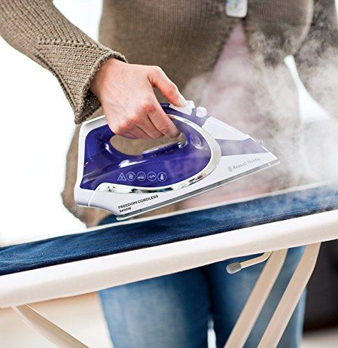 -[ Russell Hobbs 23300 Freedom Cordless Iron, 2400 W, Purple/White  ]-