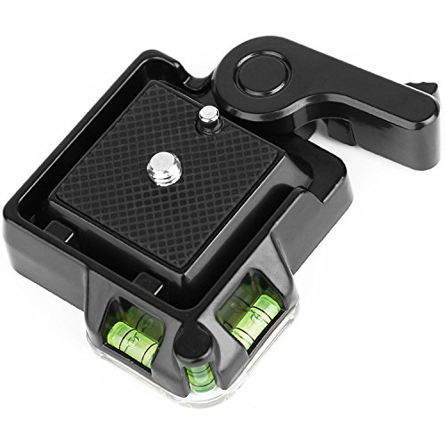 koolehaoda New Compact Quick Release Assembly Platform Clamp + Quick Release Plate for Monopod and Giottos MH630 Camera Mount MH7002 630 5011(Black OR-40)
