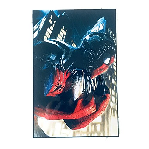 """Agility Framed Red Spiderman (Spiderman Teaser) 10""""x15"""" Poster in Basic Solid Wood Frame Wall (Framed Turquoise Earrings)"""