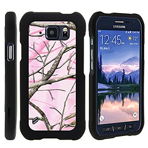 Samsung Galaxy S6 Active G890 Case, Perfect Fit Cell Phone Case Hard Cover with Cute Design Patterns for Samsung Galaxy S6 Active SM-G890 (AT&T) from MINITURTLE - Pink Hunter - Camo Cell Phone Cover