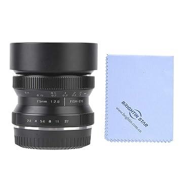 Vbestlife 7.5mm f2.8 Lente de Enfoque Manual súper Gran Angular ...