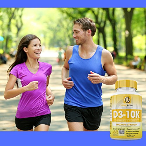 D3-10K Maximum Strength Vitamin D3 10,000 iu supports: Bone Health, Dental Health and Immune Health 60 Softgels 2 Month Supply Great Value by Prime Point (Image #6)