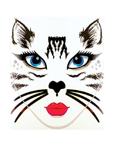 Morris Costumes - Face Decal Cat -