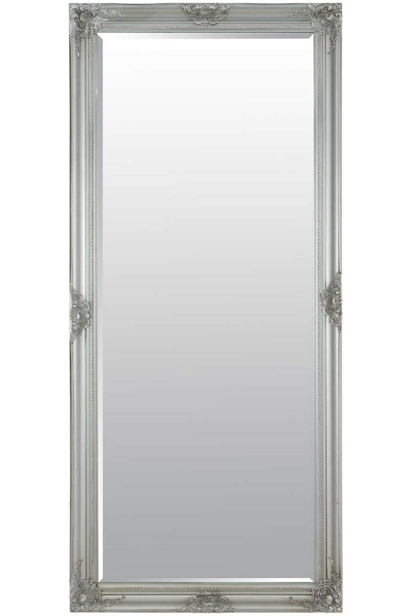 Kingsbury Large Silver Classic Style Shabby Chic Frame Leaner/Wall Mirror - 74cm (29