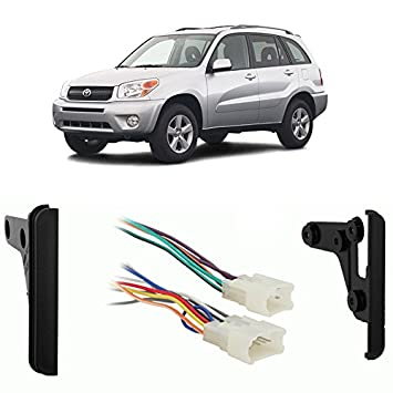5143NTlurML._SY355_ amazon com fits toyota rav4 2001 2005 double din stereo harness 2005 toyota rav4 wiring diagram at gsmportal.co