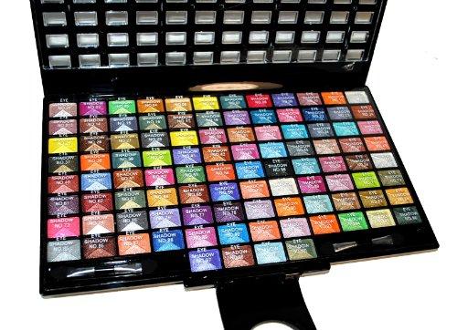 Elegant 100 Piece Glitter Eyeshadow Makeup kit in Black ...