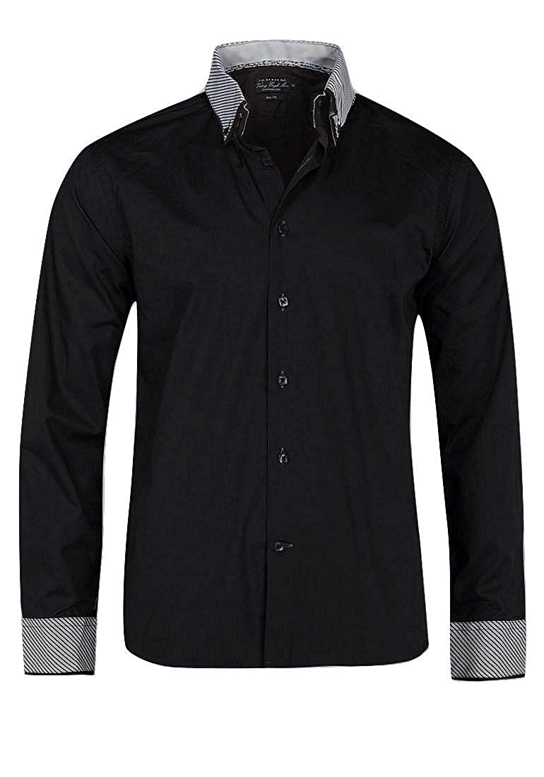 Victory Eagle Mens VT559 Long Sleeved Shirt Black