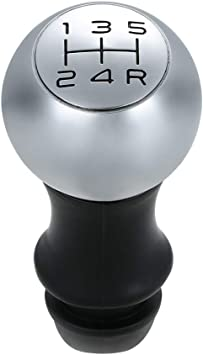 Kkmoon 5 Gang Schaltknauf Griff Schalthebel Chrome Head Lever Adapter Manuell Für Peugeot 106 206 207 306 307 407 408 508 807 Auto