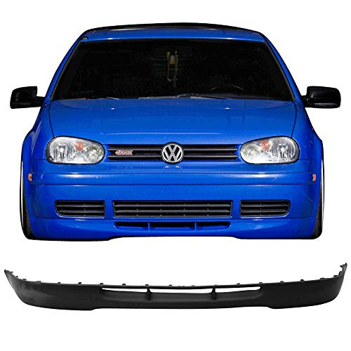 Front Bumper Lip Fits 1999-2006 Volkswagen Golf | OE 20th Style Black PU Splitter Spoiler Valance Chin Diffuser by IKON MOTORSPORTS | 2000 2001 2002 2003 2004 2005